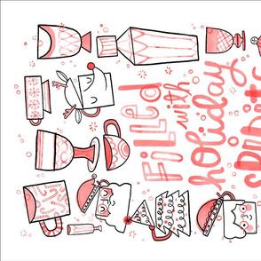 Holiday Spirits Boozie Tea Towel