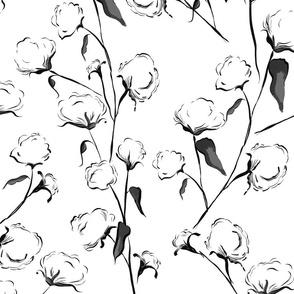 cotton black white