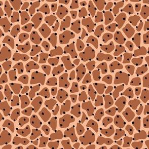 Trendy minimal animal print abstract giraffe spots and dots winter autumn cinnamon ginger brown