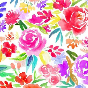 Vibrant Floral Watercolors