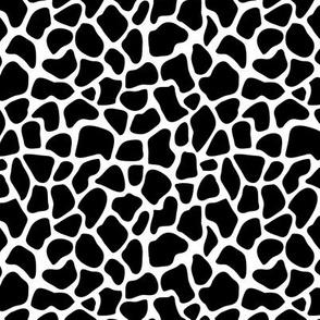 Trendy minimal safari animal print abstract giraffe wild life spots winter monochrome black and white