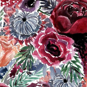 Moody Watercolor Florals
