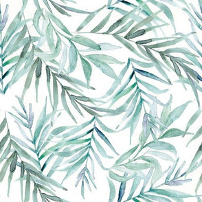 Watercolor Ferns