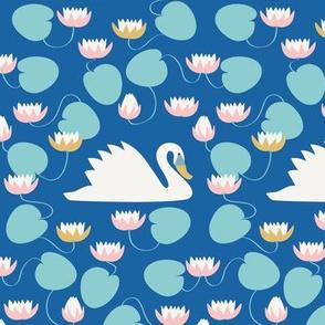Swan pond collection Royal Swan blue_Solvejg Makaretz