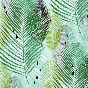 jade green jungle palms