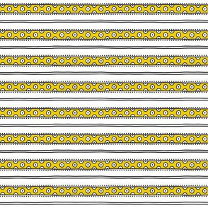 small - dots and lines in yellow