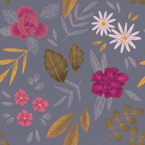 Pink Flowers - Ash Purple