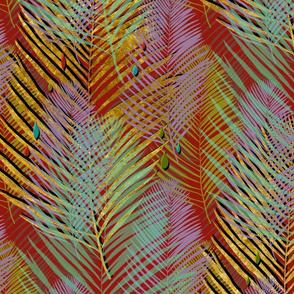 plum gold palms