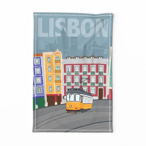Tea Towel • Hometown Lisbon Portugal