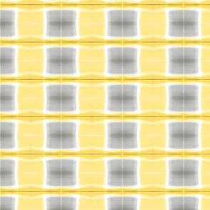 Yellow and Grey Check