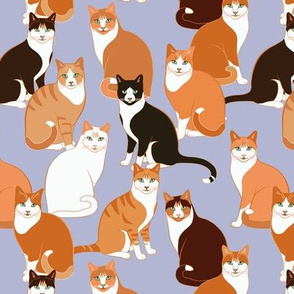 Ginger Cats on lavender