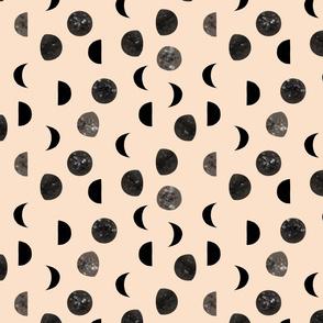 speckled black moon phases // petal