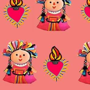 Corazones and Mexican Maria Dolls