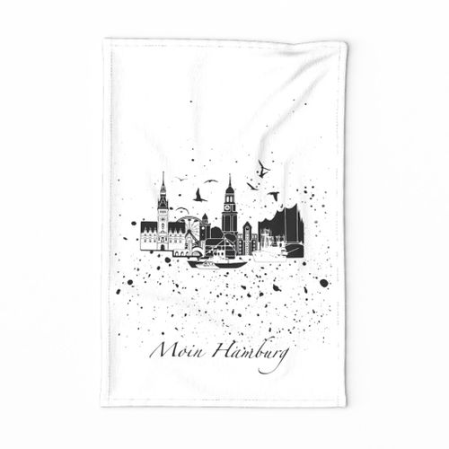 Hamburg tea towel