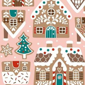 GingerBread Village / Light Pink / Large Scale