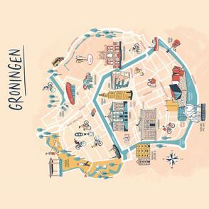 Groningen The Netherlands citymap