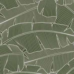 Banana Palm Leaves_Bg Chive Green_100%Size