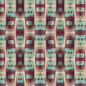 Turquoise and Brown Native Print