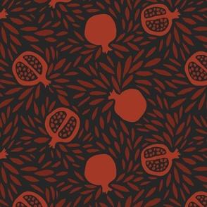 red pomagranates