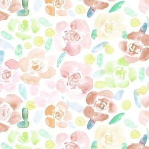 Blush pink bloom in Saint-Tropez • watercolor soft florals