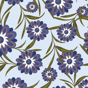 wildflower pattern 6 seamless swatch 10x10