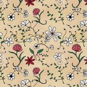 Delicate Floral on Cream