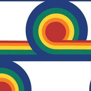 70's Record Swirls n Whirls in Rainbow