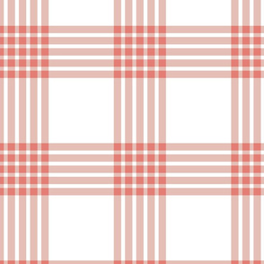 Scandi Flair-Red-Grid-Large scale