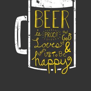 Beer Wisdom 2-Yard Panel