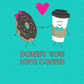 Donut You Love Coffee 2-Yard Panel