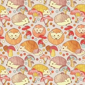 Woodland Hedgehogs - a pattern in soft neutrals