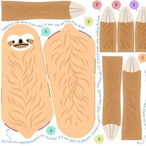 Sloth cut-and-sew plush