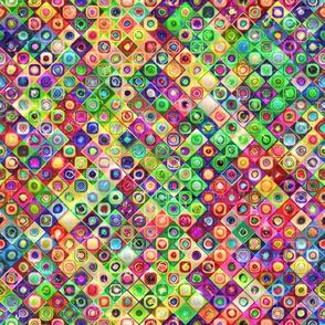 mini tiles diagonal chuck multicolor summer 3d bumpy PSMGE