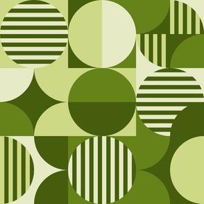 modern geometric Bauhaus, Lime, avocado green