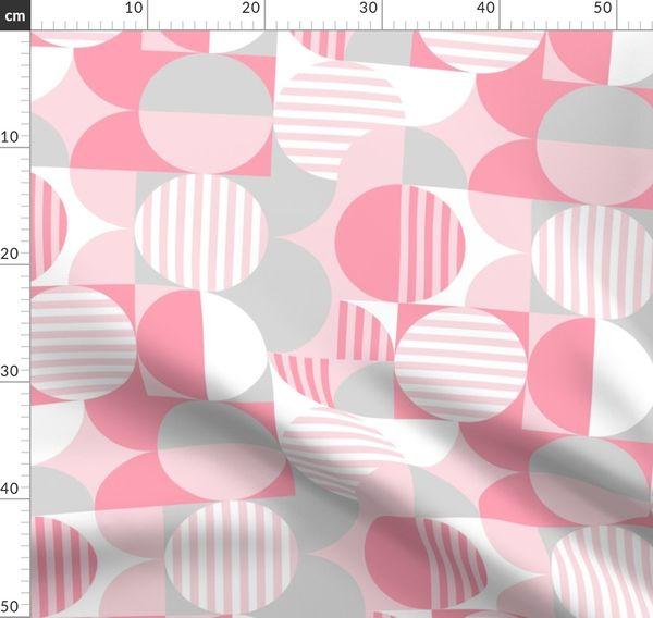 Modern Geometric Bauhaus Baby Pink Gra Spoonflower