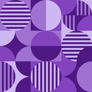 modern geometric Bauhaus purples
