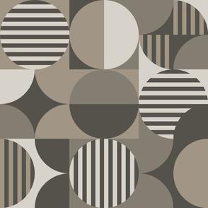 modern geometric Bauhaus, taupe brown
