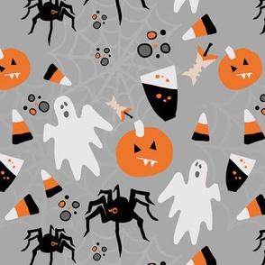 Halloween Spiders Pumpkins Ghosts & Candy
