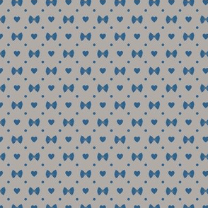 Polka Dot Heart Pastas - Grey/Navy