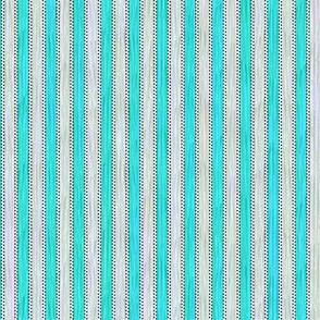 Painterly Turquoise Stripe