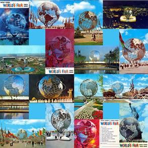 World's Fair Unisphere Postcards