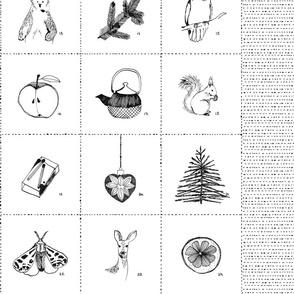 Woodland Cut and Sew Advent Calendar