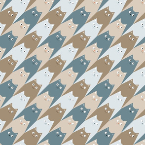Cats seamless pattern in Houndstooth style