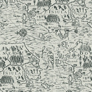 borneo vintage map print