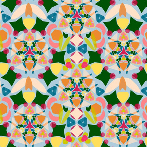 Bright and Happy Kaleidoscope Blue