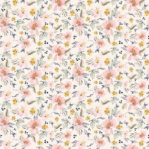 small // watercolor flowers floral spring ditsy