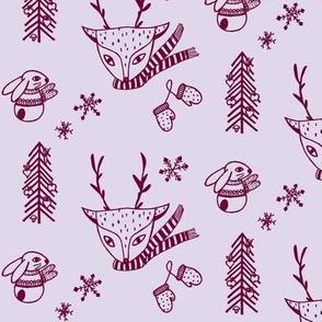 Vegan Christmas lavender beetroot