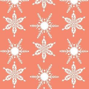 Midcentury Snowflake in pink