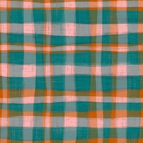 Falling For You - plaid - teal