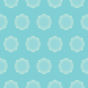 Vintage Water Lily Cameo seamless pattern background.
